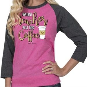 Simply southern teacher raglan shirt xl NWT